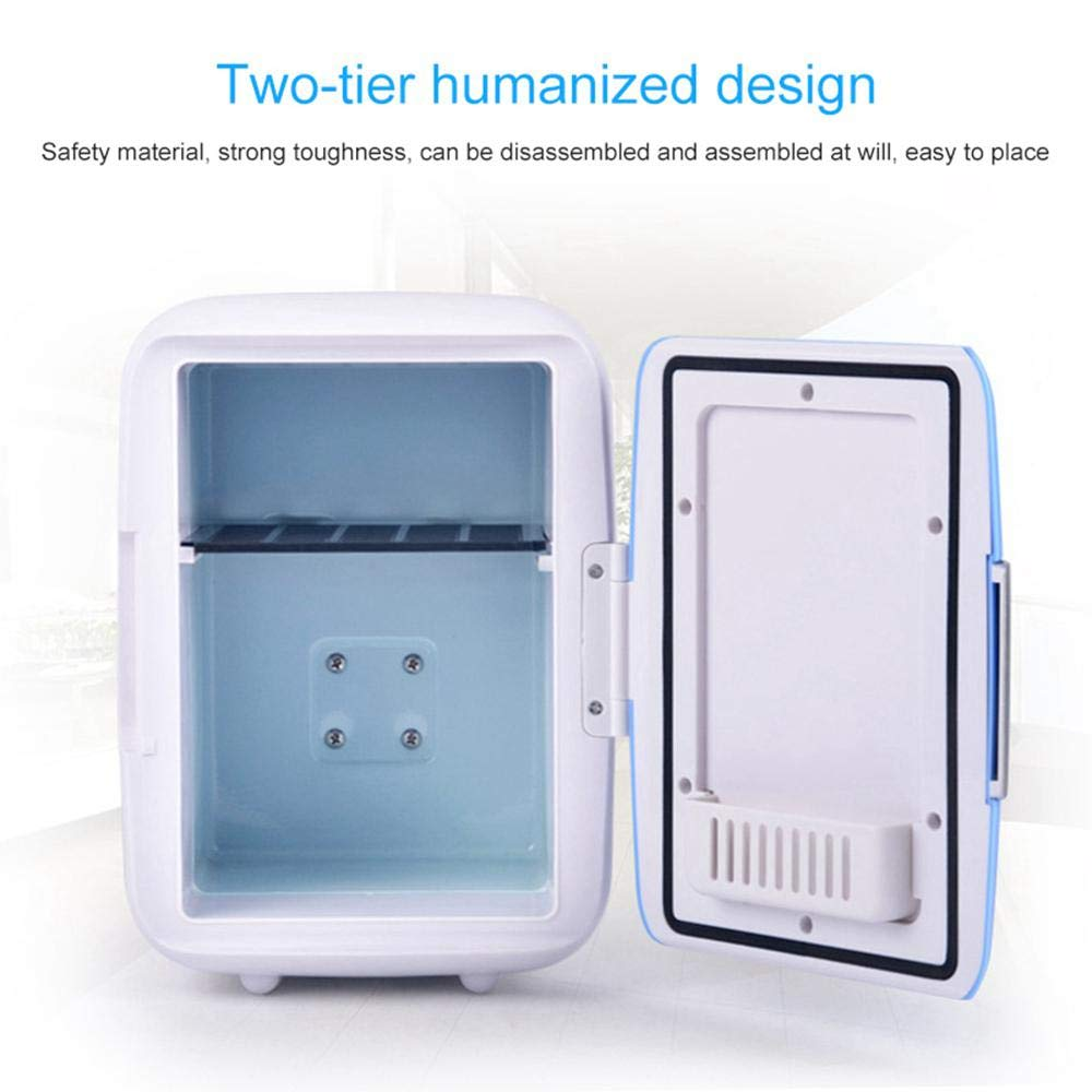 Hamkaw Mini Refrigerator Cooler and Warmer 4L Portable Freezer 12V in-Vehicle Fridge//Freezer for Cars Bedroom,Office Or Dorms Car Beverage Box Cooler for Road Trips