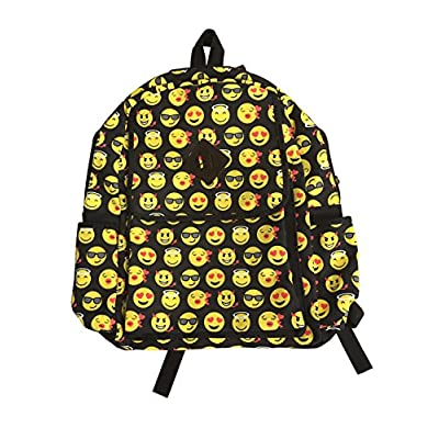 well-wreapped Rolling 95ji Emoticon Emoji Backpack School Bag44; Multi Color