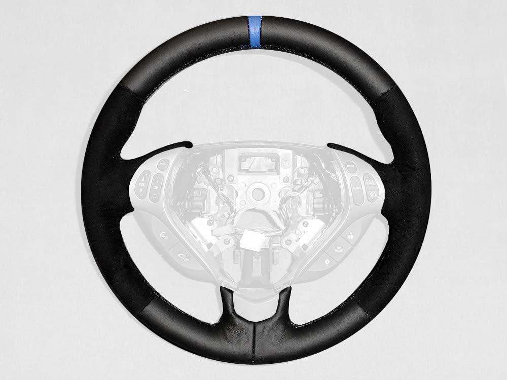 RedlineGoods cubierta del Volante 互換 con Acura TL 2004-08 ESPTL0508wheel3ALC-BLUE