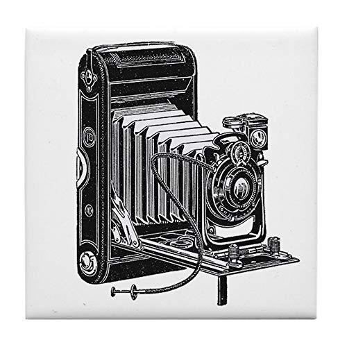 CafePress Vintage Camera Tile Coaster, Drink Coaster, Small Trivet