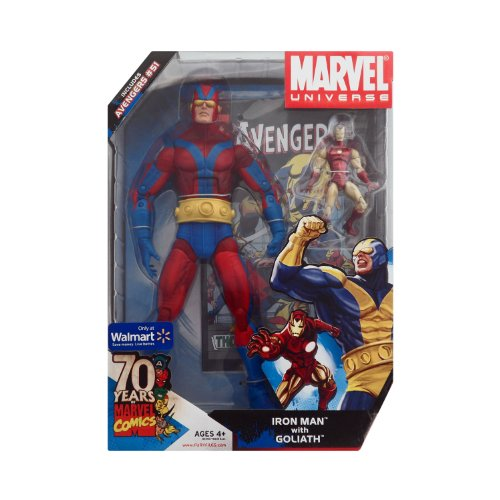 Marvel Universe Gigantic Battles Iron Man with Goliath Red Variant