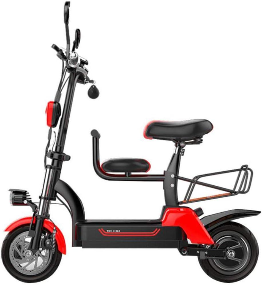 LOLOP Bicicleta eléctrica Batería de Litio 48 V Plegado Mini ...