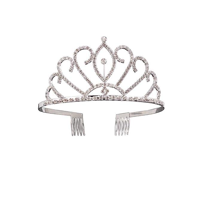Amazon Com Earofcorn Unique Rhinestone Crowns Princess Tiara Prom