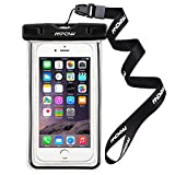 Mpow Universal Water Proof Case, Dust Dirt Proof, Snowproof Pouch case for Apple iPhone7/7Plus/ 6s, 6 Plus, Samsung Galaxy S6 Edge-Black