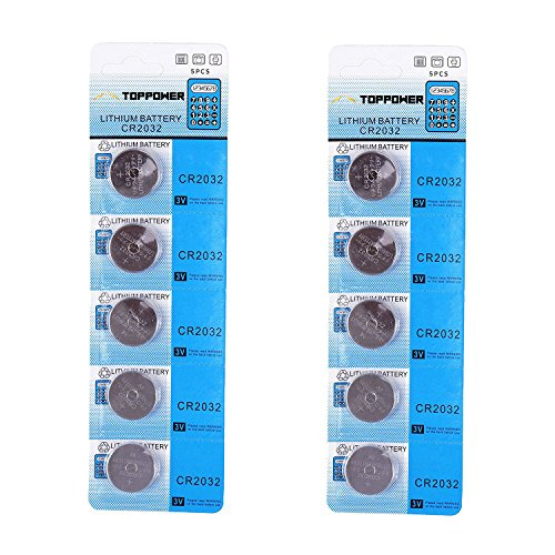 TOPPOWER Lithium Button Cell Battery 3V CR2032 2-Pack