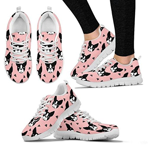 Casual Terrier Breed Women's Pattern Shoes All Sneakers Dog Boston Women's Shoetup Your Running Choose Print 61Z0Hwwgnq