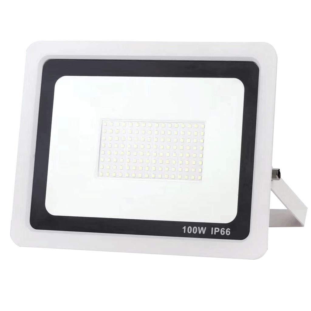 LIHM 屋外センサーフラッドライト 100W 2400ルーメン IP65防水 LED セキュリティ照明 パーフェクト にとって 庭園 裏庭 (色 : 白) B07QPDT6MH 白