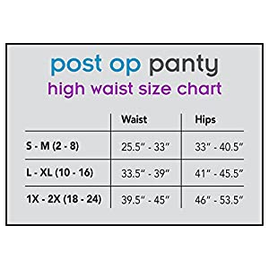 Post Op Panty Compression Hysterectomy and Myomectomy Recovery Panty L/XL Black