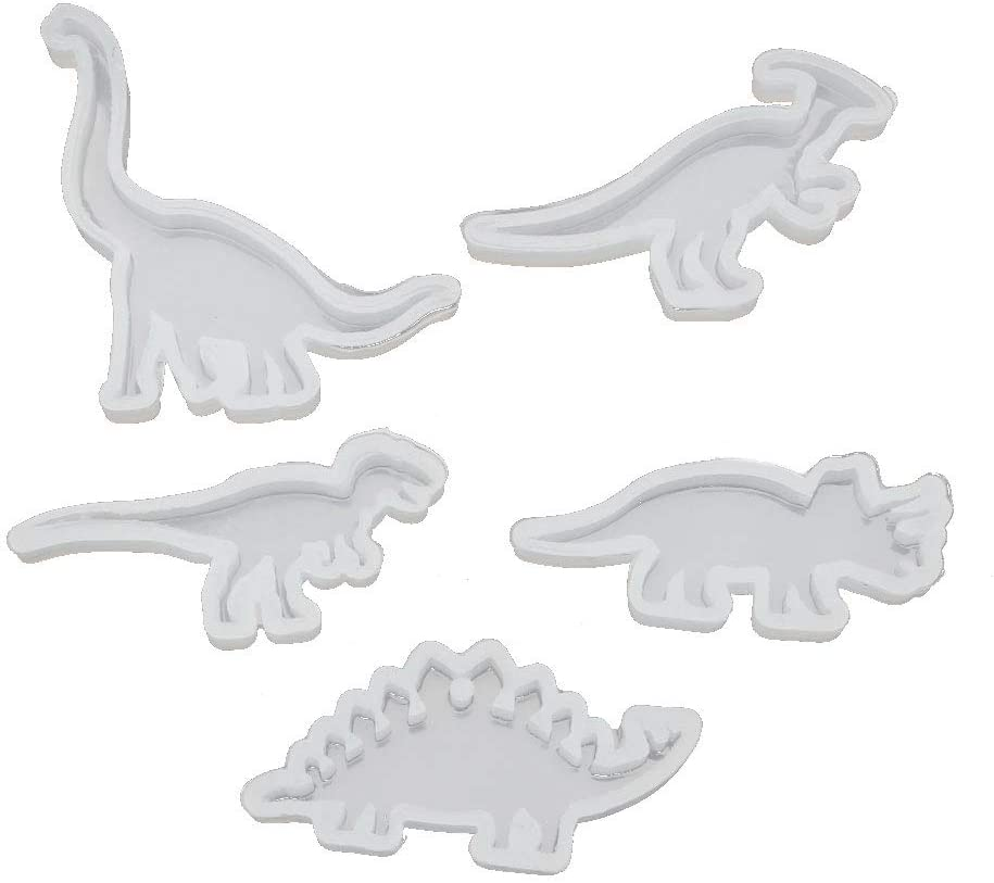 5Pcs Animals Cute Dinosaur Pendant Resin Silicone Molds Jewelry Making Tools