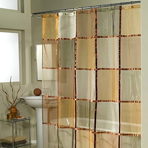 Ex-Cell Home Fashions Mosaic Fabric Shower Curtain, Terracotta
