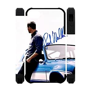 Popular Movie Paul Walker in fast furious 6 Apple Iphone 4S/4 Case Cover Dual Protective Polymer Cases