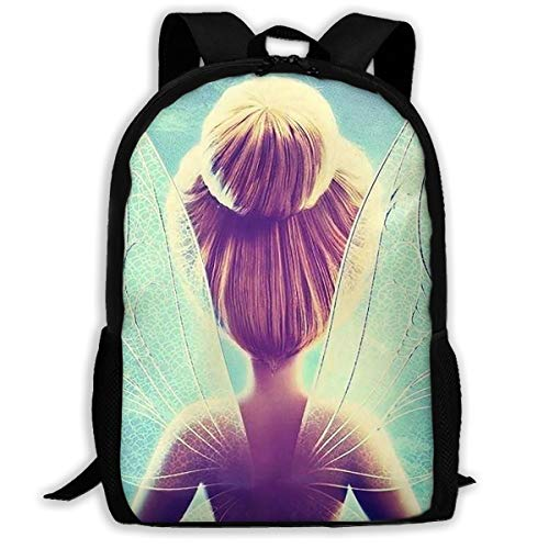 Tinkerbell Kitchen Disney - LIUYAN Custom Disney Tinkerbell and Fairy Casual Backpack School Bag Travel Daypack Gift