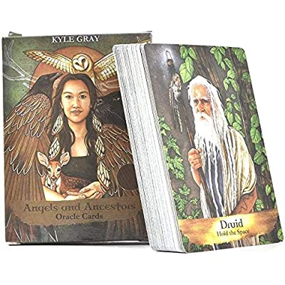Afaneep Angels and Ancestors Oracle Cards, 55 PCS Tarjetas Oráculo de Ángeles y Ancestros: Angels and Ancestors Cards Oracle Game of Tarot Beginners Card