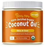 Image of Zesty Paws Coconut Oil for Dogs - Certified Organic & Extra Virgin Superfood Supplement - Anti Itch & Hot Spot Treatment - for Dry Skin on Elbows & Nose - Natural Digestive & Immune Support - 16 OZ