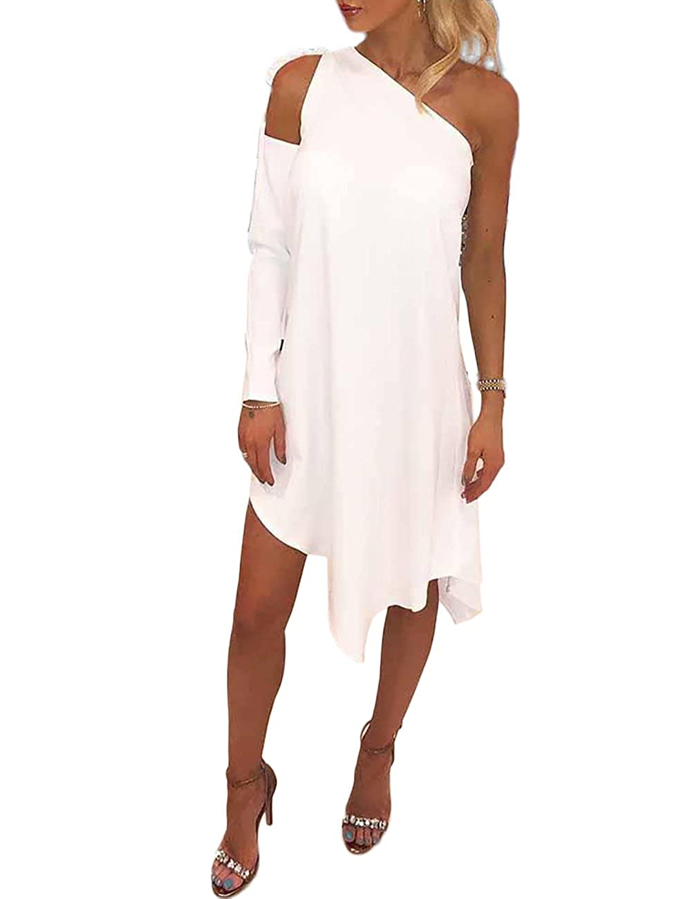 248256f2622 Online Cheap wholesale Ninimour Women Cutout One Sleeve Irregular Hem  Casual Dress Dresses Suppliers