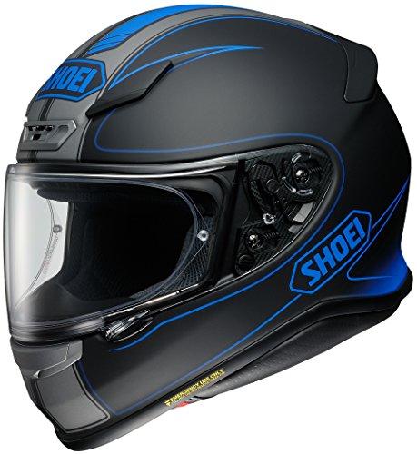 Shoei Flagger RF-1200 Street Racing Motorcycle Helmet TC-2 / Black/Grey/Blue Size Medium