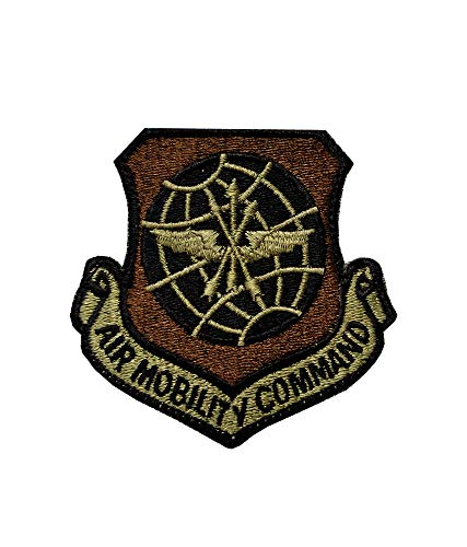 US Air Force Air Mobility Command OCP Scorpion Spice Brown Patch with Hook Fastener ()