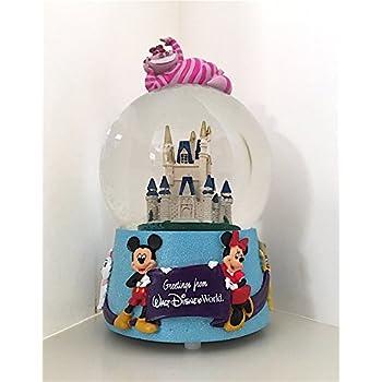Walt Disney World Character Cinderella's Castle Cheshire Cat Mickey Minnie Musical Snowglobe