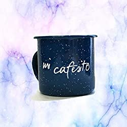 """Pocillo Peltre""""Mi cafesito"""" Azul"""