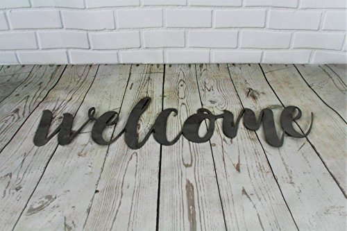 - Raw Steel Unpainted Word Art - welcome small size