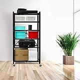 YOUNIS 6-Shelf Shelving Storage Unit, Metal