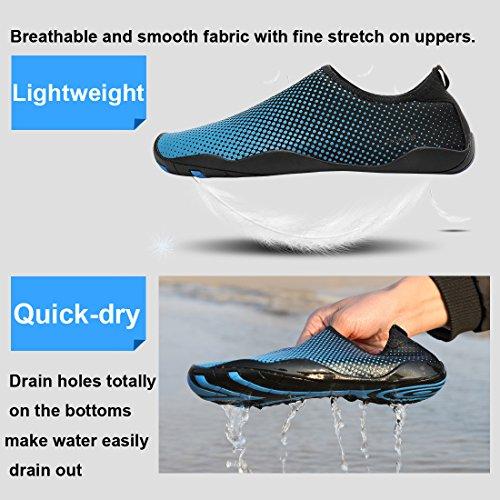 KEESKY Männer Frauen Barfuß Quick Dry Wasser Schuhe Für Strand Schwimmen Surf Yoga Tauchen Aerobic Schwarz 1