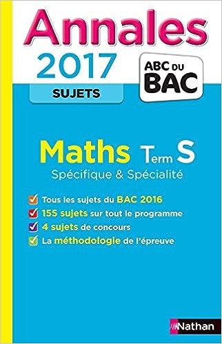 Les Annales du BAC Maths Terminale S Spécificité et Spécialité : Non corrigé Annales ABC du Bac: Amazon.es: Collectif: Libros en idiomas extranjeros