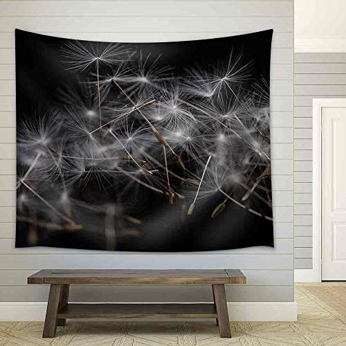 Dandelion Seeds Many Dandelion Seeds Closeup Feather Flower Fabric Wall