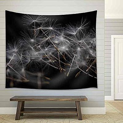 Dandelion Seeds Many Dandelion Seeds Closeup Feather Flower Fabric Wall, Original Creation, Marvelous Composition