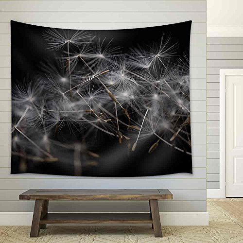 Dandelion Seeds Many Dandelion Seeds Closeup Feather Flower Fabric Wall Tapestry
