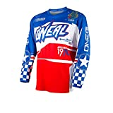 O'Neal Element Afterburner UniseX-Adult Jersey (Blue/Red, XX-Large)