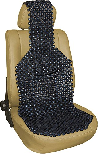 Zento Deals Black Wood Beaded Seat Cushion-5/8