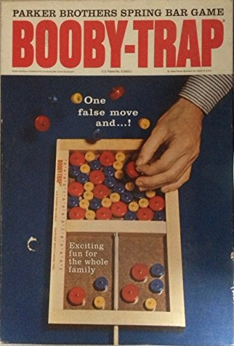 "ORIGINAL WOODEN VINTAGE 1965 ""BOOBY-TRAP""ANTIQUE BOARD GAME-COLLECTIBLE TOY"