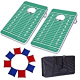 Victoria Young Supreme Quality Aluminum Frame Cornhole Bean Bag Toss Game Set Portable Lightweight with 8 Bean Bags (2.5ft x 1.5ft)