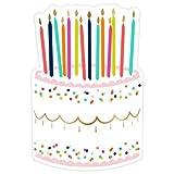 Slant Die-Cut Birthday Cake Paper Plates