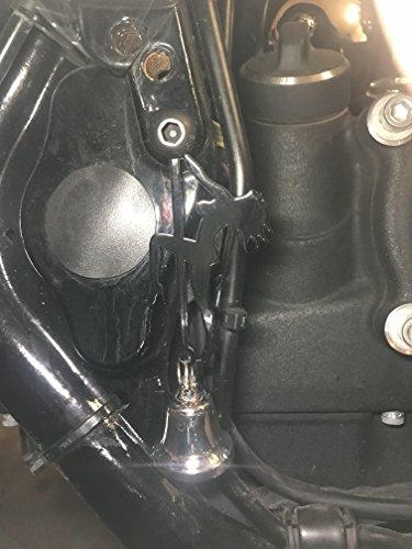 (Gloss Black Stripper Bell Hanger/Mount for Motorcycle Bolt & Ring Included fits all bikes Road King Street Glide Harley Davidson)