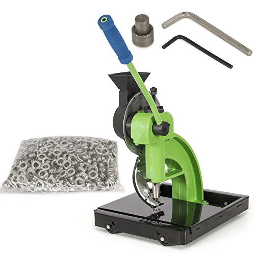 ARKSEN 10,000pc #2 Eyelet Semi-Automatic Grommet Machine w/ Rolling Base Hand Press