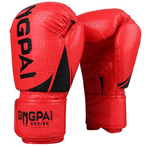 GINGPAI Boxing Gloves for Men Women,Punching Bag Gloves, Kickboxing,Muay Thai,MMA,Home Gym Training Gloves