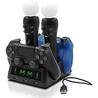 Tihokile Base de Carga para el Consola PS4, Puede Llenar la Consola PS4 y el Controlador PS4 VR, Para Play Station (4…