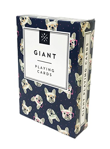 WS Game Company Cute Novelty Themed Giant Playing Cards (French Bulldog)