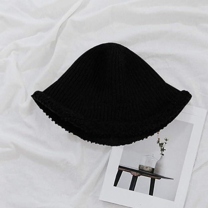Amazon.com: LENXH Womens Knit Hat Solid Color Fisherman Hat ...