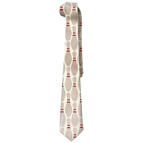 Bowling Pins Corbata larga para hombre, corbata delgada de seda ...