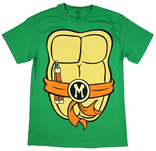 [TMNT Michelangelo 30 Single Costume T-Shirt- Medium] (Leo Johnson Costume)