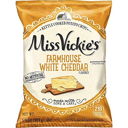(Miss Vickie's Farmhouse White Cheddar Flavored Kettle Cooked Potato Chips 1.375 oz Bags - Pack of 16)