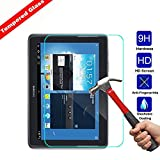Kingsource Samsung Galaxy Tab 2 10.1 inch P5100/Galaxy Note 10.1 N8000 N8013 Tempered Glass Screen Protector Film [2.5D Round Edge] [9H Hardness] [0.33MM Thin][Crystal Clear] [Scratch Resist]