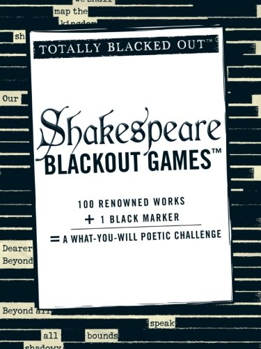 Shakespeare Blackout Games  Totally Blacked Out