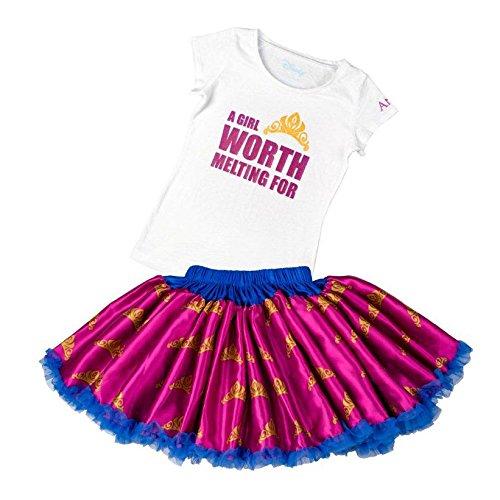 (Tutu Couture Girl's Disney's Anna Tee & Pettiskirt, Purple, 7/8)