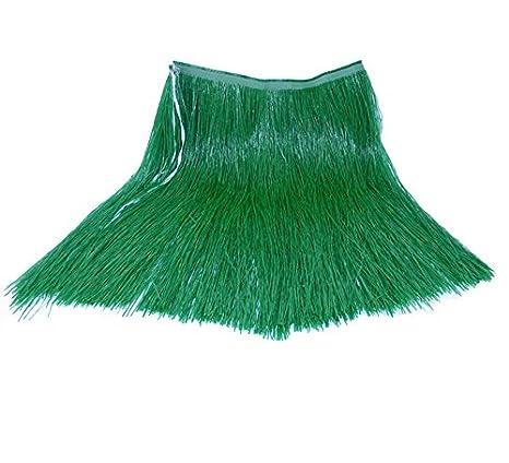 Falda Hawaiana verde de rafia: Amazon.es: Juguetes y juegos