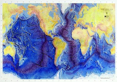 Ocean Floor Raised Relief Map (Raised Relief Map of the Ocean Floor with Guide)