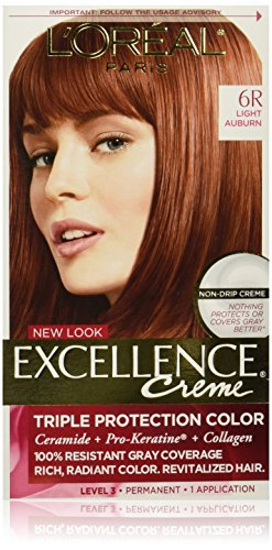 L'Oreal Paris Excellence Creme Hair Color, 6R Light Auburn -  10068097